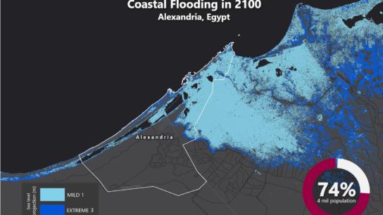 Sea Level Rise Projection Map – Alexandria