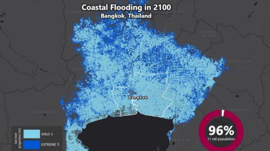 Sea Level Rise Projection Map – Bangkok