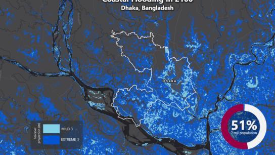 Sea Level Rise Projection Map – Dhaka