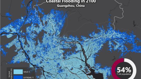 Sea Level Rise Projection Map – Guangzhou