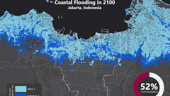Sea Level Rise Projection Map – Jakarta