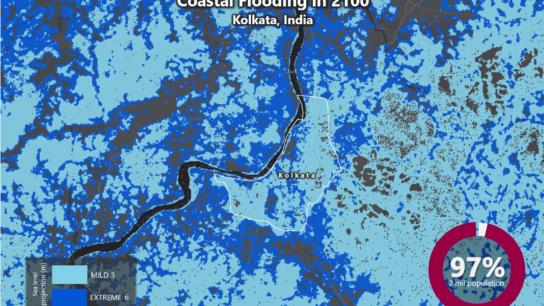 Sea Level Rise Projection Map – Kolkata