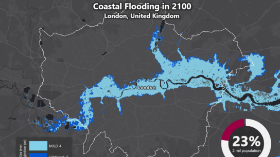 Sea Level Rise Projection Map – London