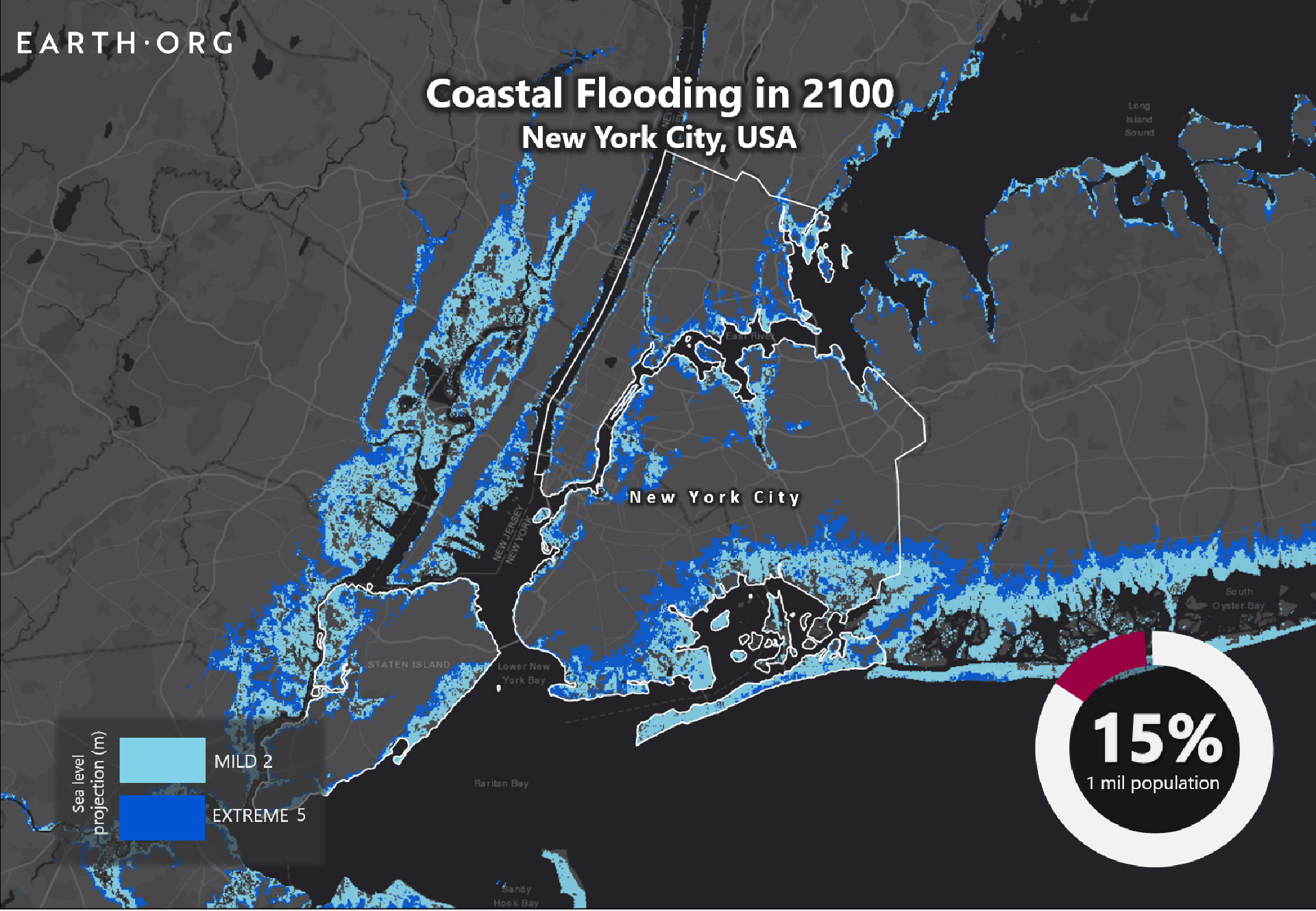 sea level rise by 2100 New York City