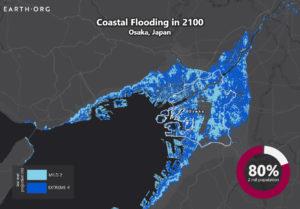 sea level rise by 2100 Osaka