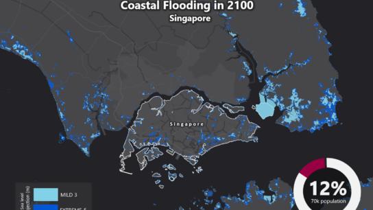 Sea Level Rise Projection Map – Singapore