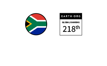 South Africa – Ranked 218th in the Global Sustainability Index