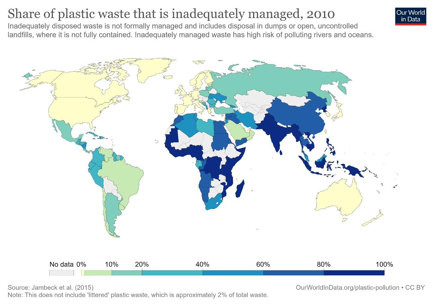 Mismanaged Plastic Map