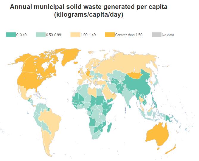 waste per capita map
