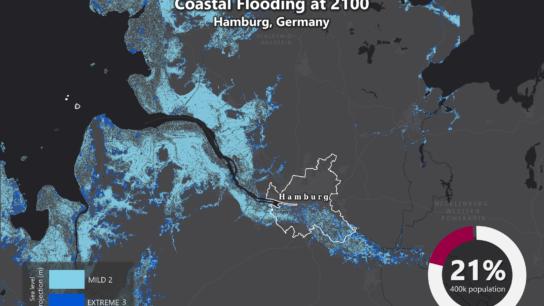 Sea Level Rise Projection Map – Hamburg