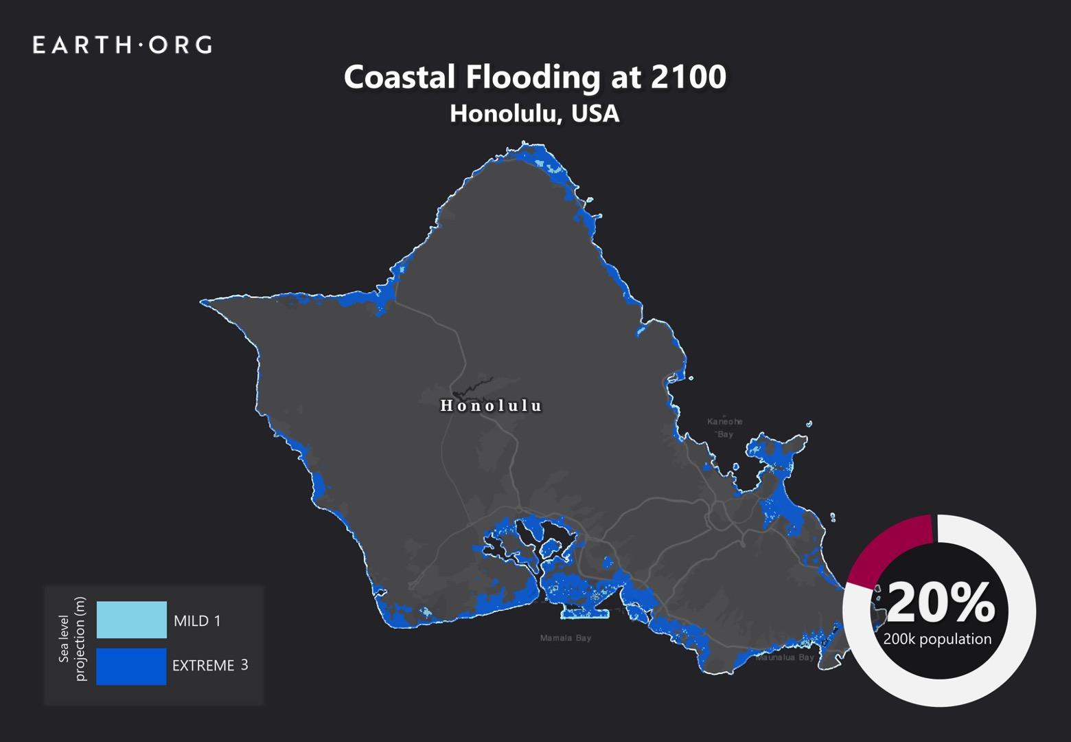 sea level rise by 2100 honolulu