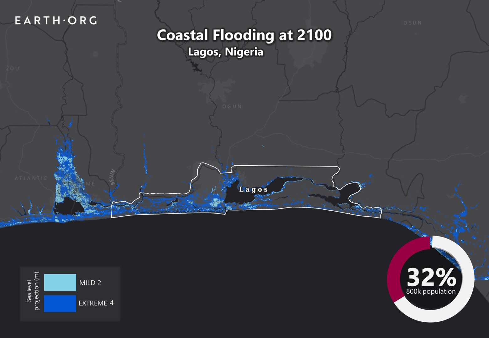 sea level rise by 2100 lagos