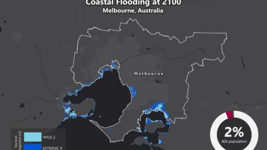 Sea Level Rise Projection Map – Melbourne