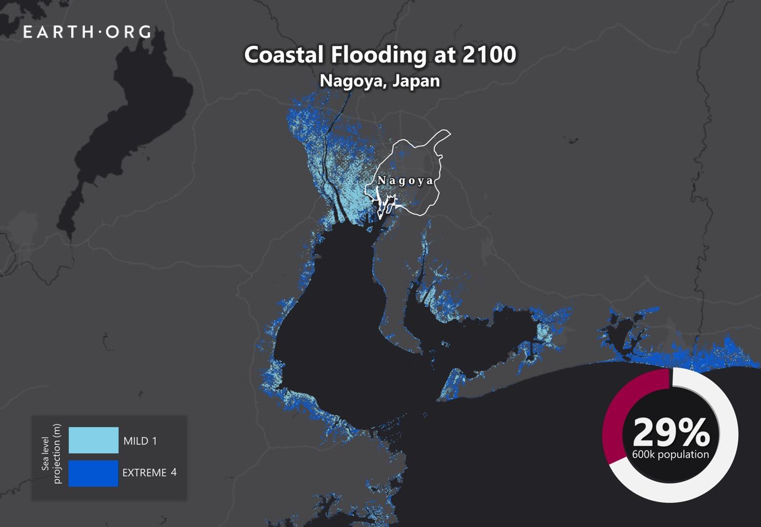 sea level rise by 2100 nagoya