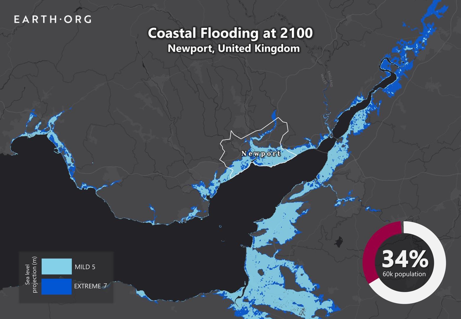 sea level rise by 2100 newport