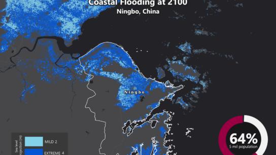 Sea Level Rise Projection Map – Ningbo