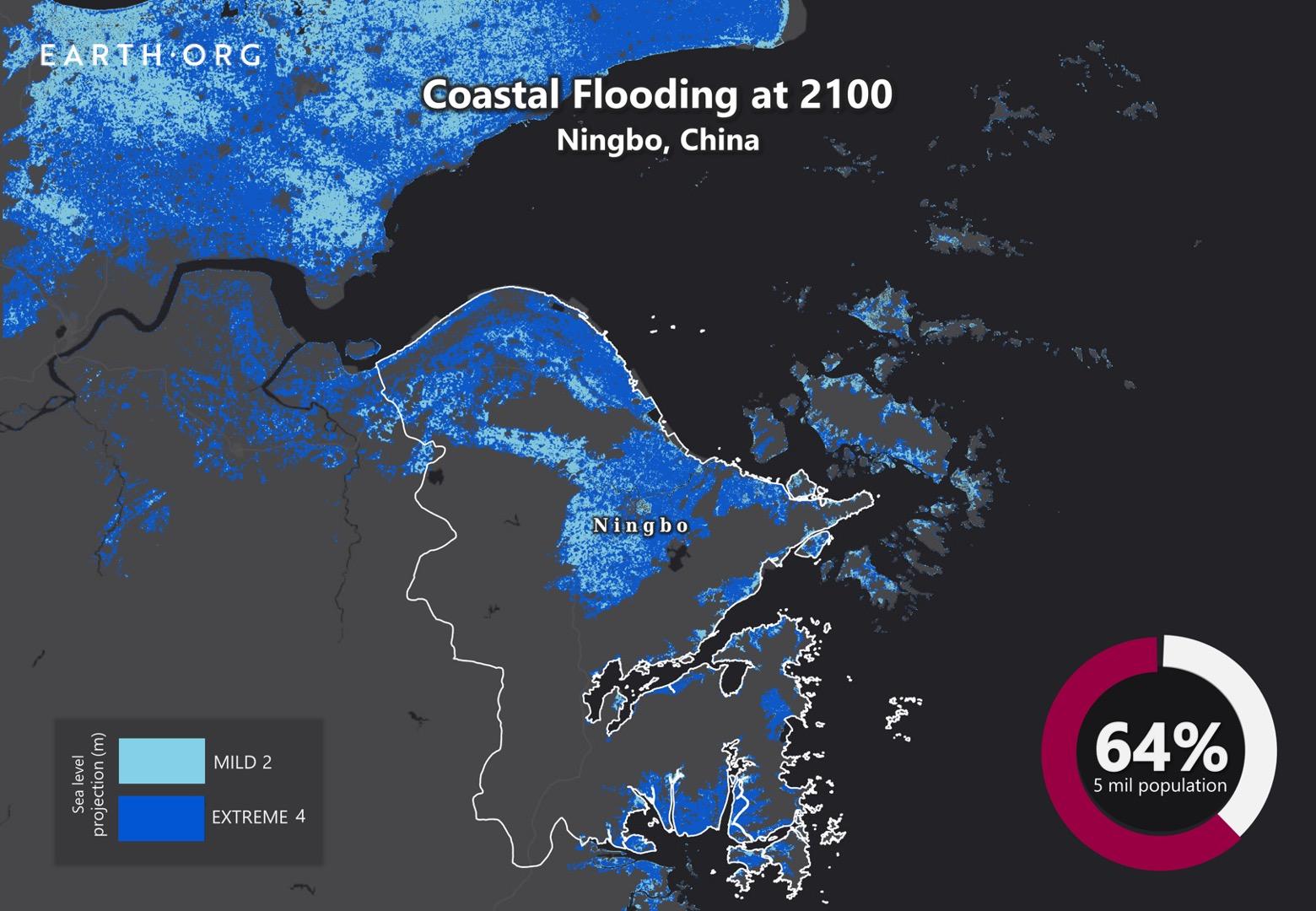 sea level rise by 2100 ningbo