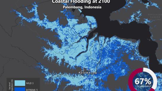 Sea Level Rise Projection Map – Palembang