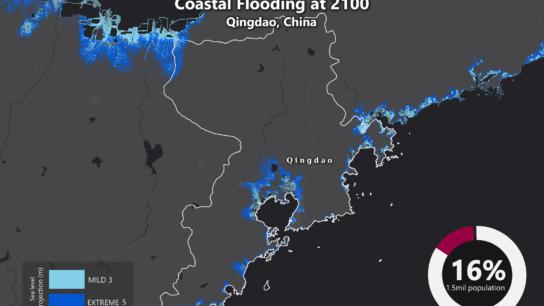 Sea Level Rise Projection Map – Qingdao