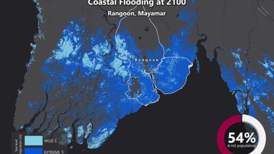 Sea Level Rise Projection Map – Rangoon