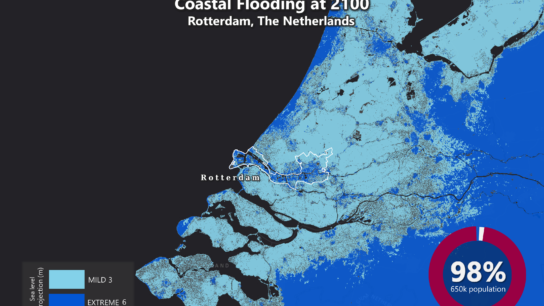 Sea Level Rise Projection Map – Rotterdam