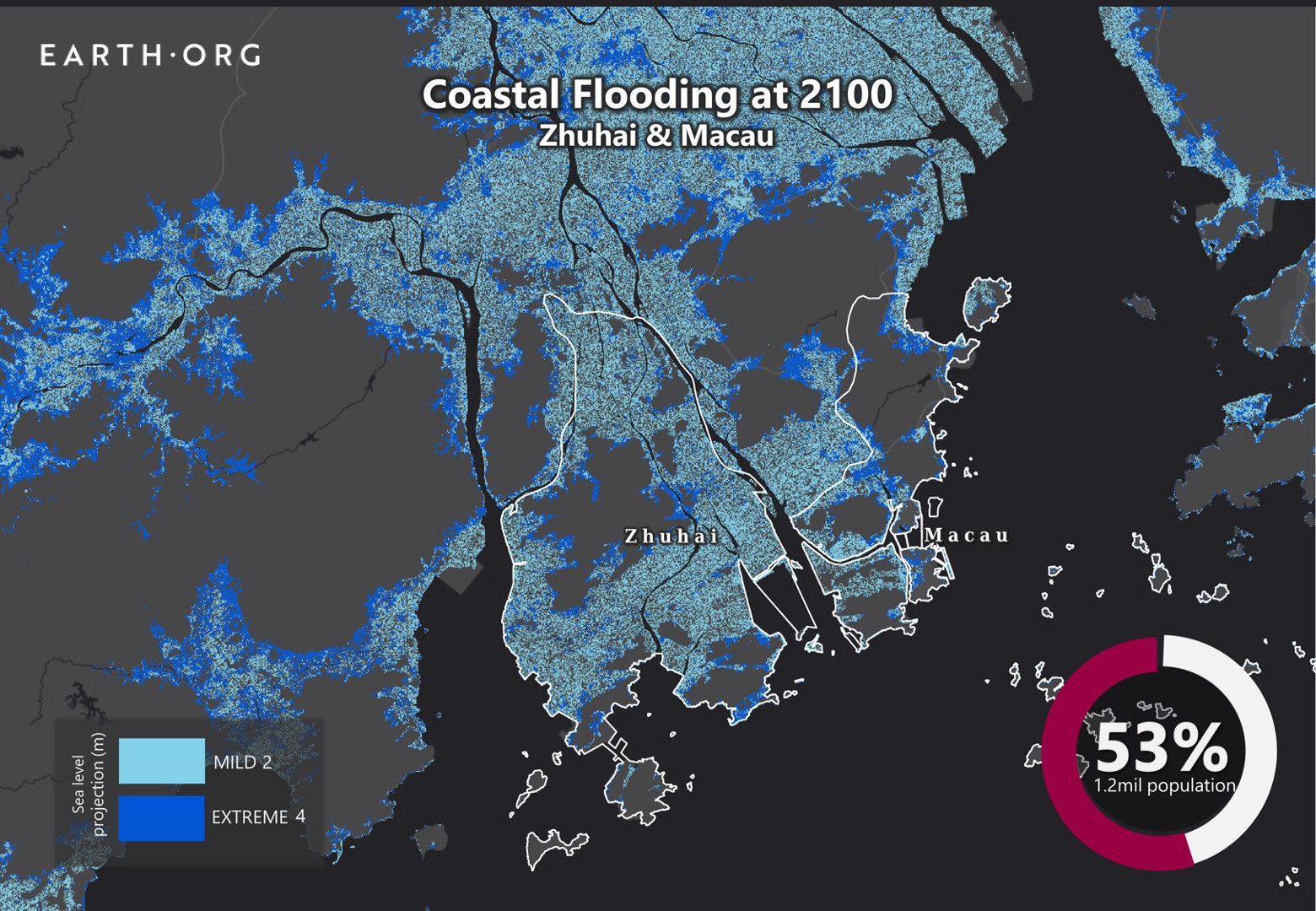 sea level rise by 2100 zhuhai & macau