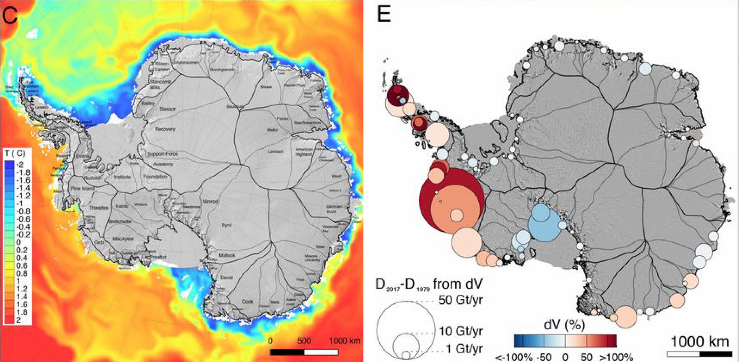 antarctic ocean temperature and ice loss