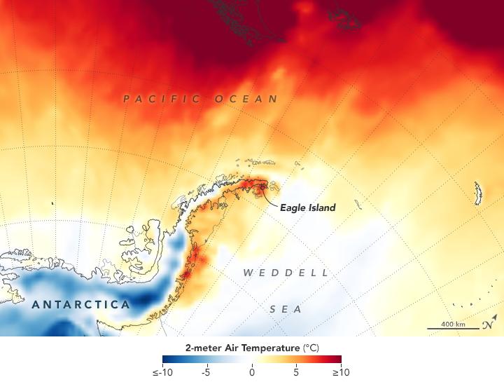 Antarctica record temperature