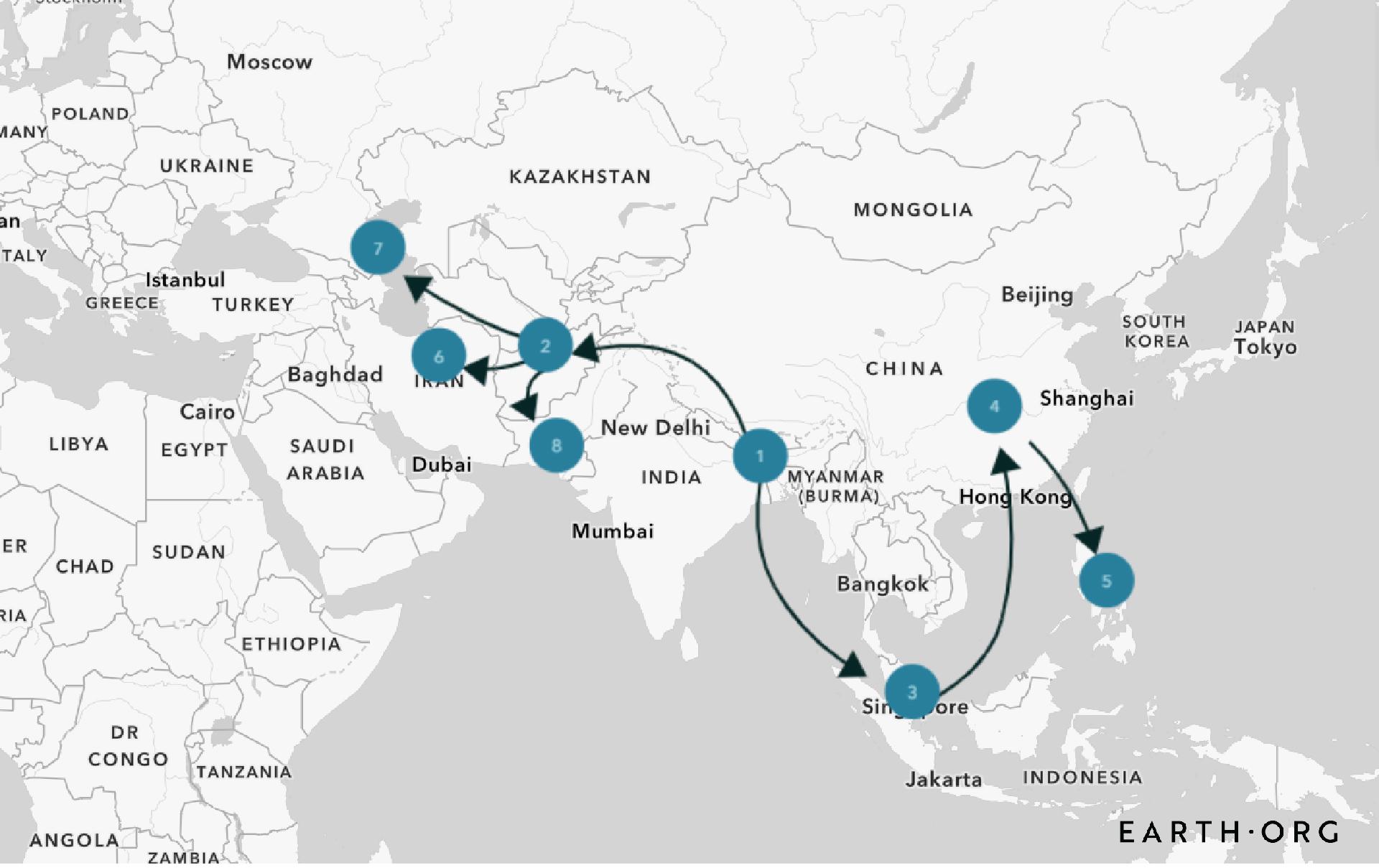 third cholera pandemic map 1