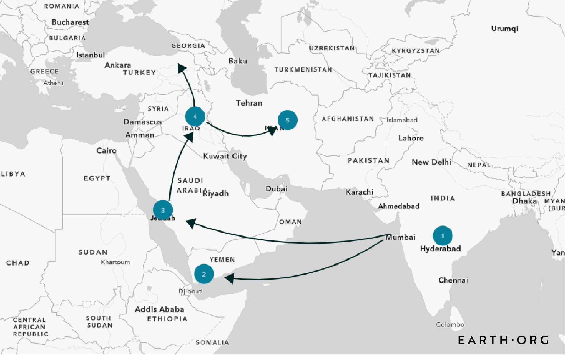 third cholera pandemic map 2