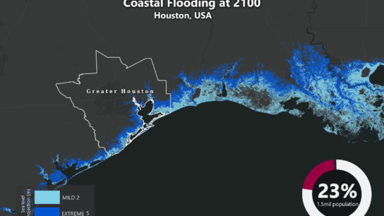 Sea Level Rise Projection Map – Houston