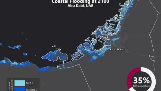 Sea Level Rise Projection Map – Abu Dhabi