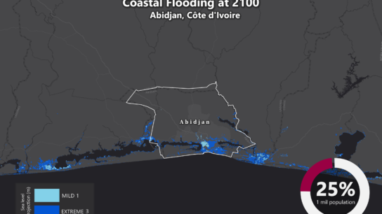 Sea Level Rise Projection Map – Abidjan