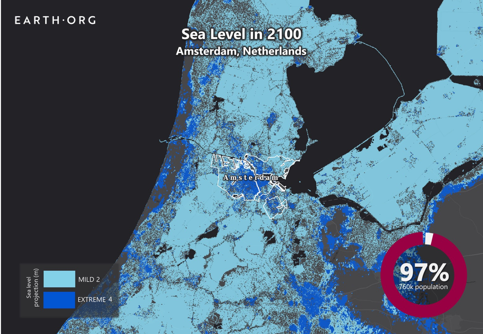 sea level rise by 2100 amsterdam