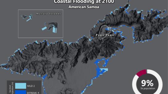 Sea Level Rise Projection Map – American Samoa