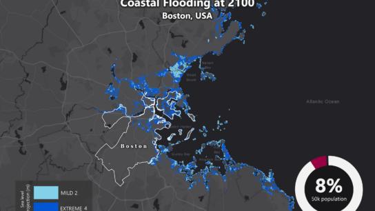 Sea Level Rise Projection Map – Boston