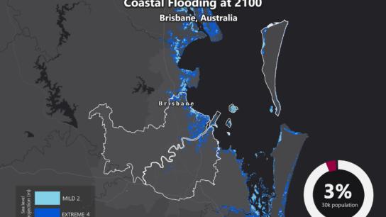 Sea Level Rise Projection Map – Brisbane
