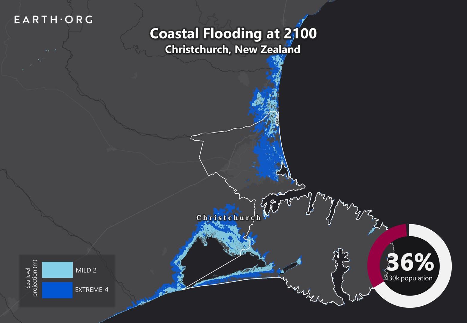 sea level rise by 2100 christchurch