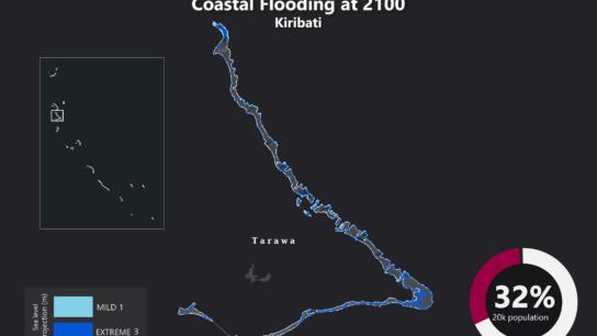 Sea Level Rise Projection Map – Kiribati