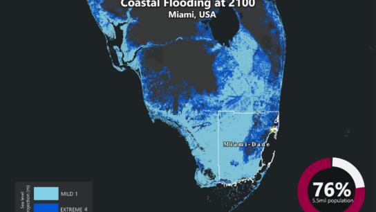 Sea Level Rise Projection Map – Miami