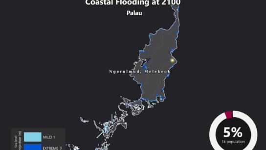 Sea Level Rise Projection Map – Palau