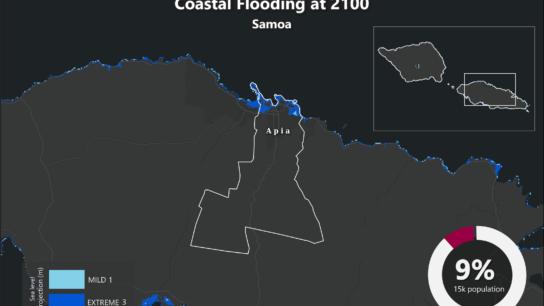 Sea Level Rise Projection Map – Samoa