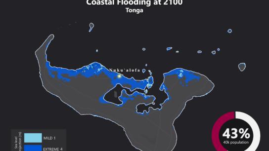 Sea Level Rise Projection Map – Tonga