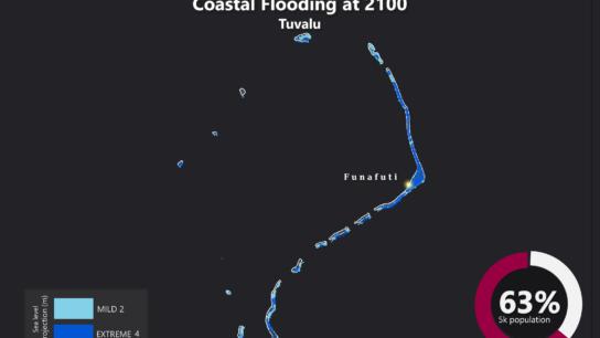 Sea Level Rise Projection Map – Tuvalu