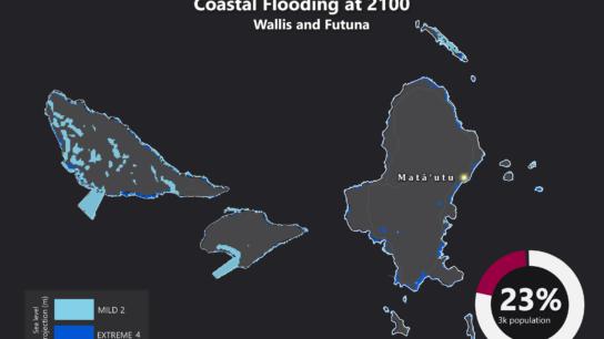 Sea Level Rise Projection Map – Wallis and Futuna