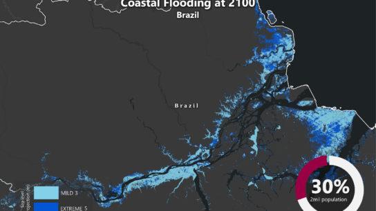 Sea Level Rise Projection Map – Amazon River Delta