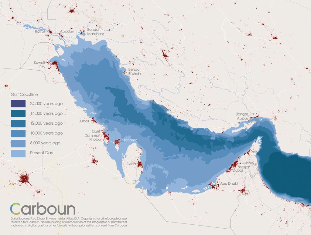 sea level rise historical arabian persian gulf