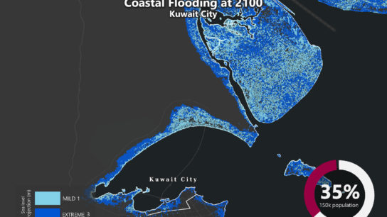 Sea Level Rise Projection Map – Kuwait City