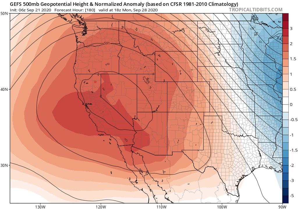 high pressure ridge west coast heatwave