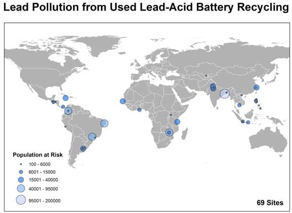 lead poisoning map lead-acid batteries